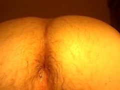 Chubby Bottom Squirts Out Cum After Breeding