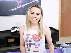 Amateur girlfriend bangs in knickers pov