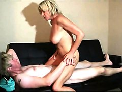 mom masturbate and fuck with son on real cam