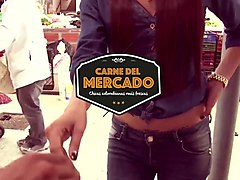 CARNE DEL MERCADO - Colombian babe Penelope Perez gets picked up from the streets and banged