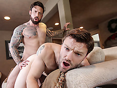 Dennis West & Jordan Levine in Ghosts Of Christmas : A Gay XXX Parody Part 3 - DrillMyHole