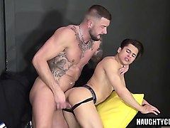 tattoo jock cock suck with cumshot