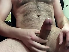 i grew my bush out!... cumming with no hands, playing with the cum