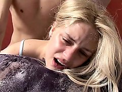 young lovely teen first crying anal nightmare time