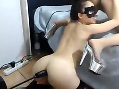 Lesbians licking pussy machine fucked in the ass anal