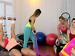 fitness rooms big boobs babes suck and fuck teachers cock before orgasm