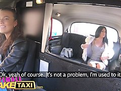 female fake taxi sex toys make toned babe cum hard in czech taxi