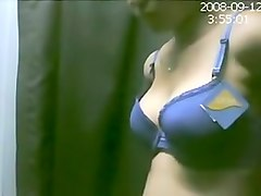 Girl Changing Diffrent Types Bra In A Shopping Mall Caught By Hiden Cam