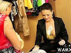 breasty adult female enjoys messy solo moments on webcam