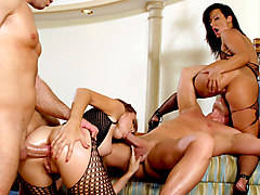 Sandra Romain & Evan Stone & Angelica Lane in Sandra Romain's Milf Pussy & Ass Takes Two Cocks At Once - BestGonzo