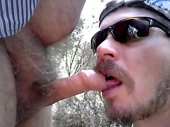 Sucking Off Uncut Hairy Daddy, But I blow too soon !