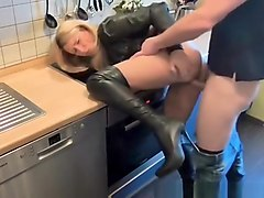 Oral Sex In The Kitchen With Facial