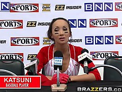 brazzers - big tits in sports -  fuck the fans scene starring katsuni and keiran lee