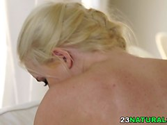 amateur blonde is feeling ready to blow that stiff member and then to get it between her legs by her lover