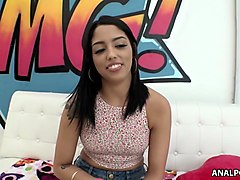 slutty teen vanessa sky enjoys her first anal and atm