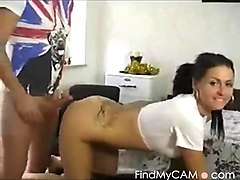 sexy uk slut sucks and fucks live on cam