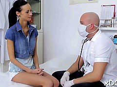 sassy girl visited her horny doctor and they had sexy sex