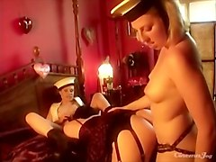 Sexy sailor girls have a threeway with a beauty