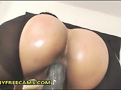 wild busty brazilian babe with big bubble butt masturbates