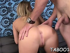 awesome blonde teen giving a mind blowing blow job job