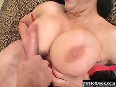 angelica sin is a wild brunette, who has an enormous pair...