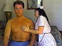 nurse gives her man oral - head nurse oral