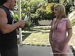 busty blonde velicity receives creampie - busty blonde