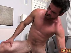 muscle gay domination with facial