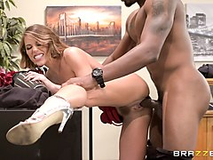 adriana chechik bends over for a black man's hard boner