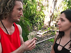 ava parker blows a guy and another hoe with nipple piercings flashing