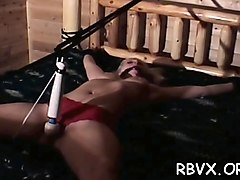 slut gets orgasams while being coercive to sit on vibrator
