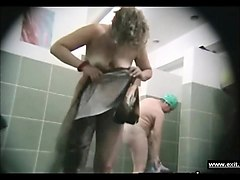 group showering mothers on spy cam