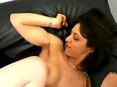 French redhead sream a lot during anal
