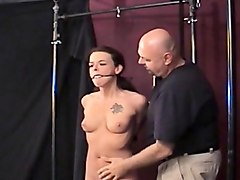 wench that likes to be bonded gets teased with a toy