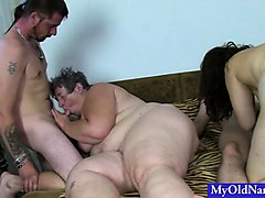 two fat grannies boned by two studs