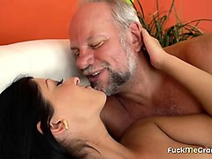 college beauty fucked by a grandpa