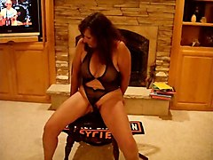 milf redheads in lingerie play solo