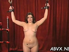 harsh treatment on mature pussy in sexy bondage xxx