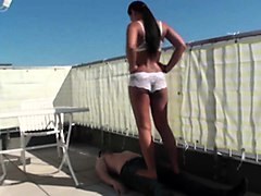 young femdom brats trample slaves
