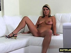 big tits amateur casting with creampie
