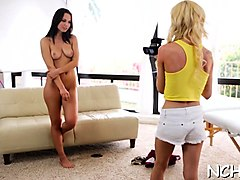 juicy teen angel enjoys deep banging at the teen casting