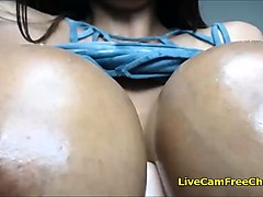 black stepmom oiling big tits give joi like a teacher with g