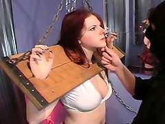this bonded whore tears up in outlandish humiliation scene