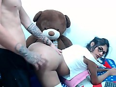 webcam watches a couple fuck doggystyle and hard