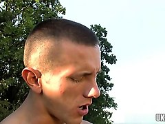 muscle gay outdoor sex and cumshot