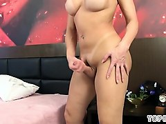 hot shemale dildo and orgasm