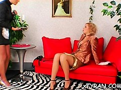 submissive dude gets abused in hawt femdom fetish session