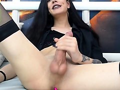 transsexual in stockings horny solo
