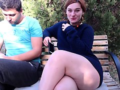 teen girl pisst public outdoor