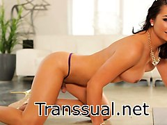 tranny chanel santini hardcore anal sex with huge cock